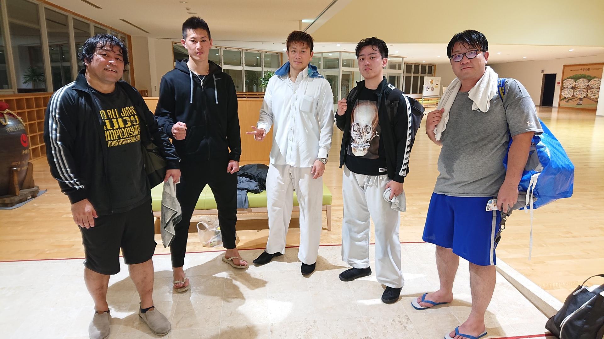 那覇道場:平塚先輩、伊藤選手が出稽古に